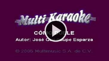 Karaoke Como duele